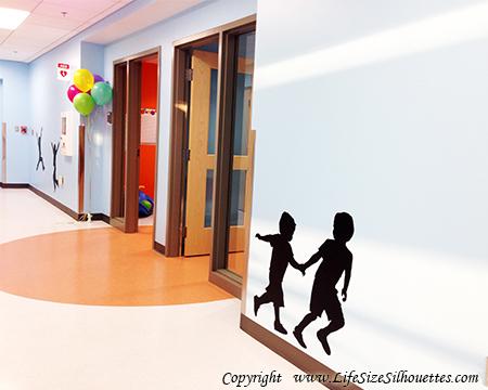 Picture of Boys Running 2 (Children Silhouette Decals)