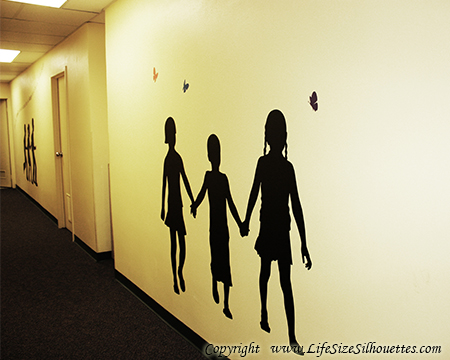 Kids Holding Hands Silhouette Decal Children S Decor