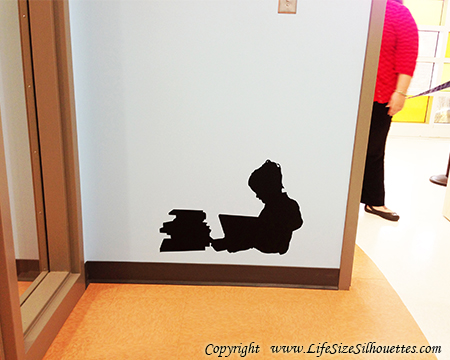 Picture of Girl Reading Books 5 (Children Silhouette Decals)