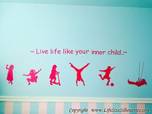 Picture of Girl Swinging 3 (Children Silhouette Decals)