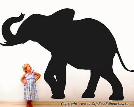 Picture of Elephant  1 (Safari Animal Silhouette Decals)