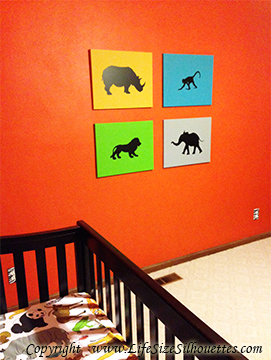 Picture of Baby Elephant  6 (Safari Animal Silhouette Decals)