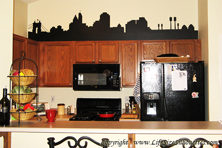 Picture of Detroit, Michigan City Skyline (Cityscape Decal)