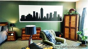 Picture of Atlantic City, New Jersey Skyline (Cityscape Decal)