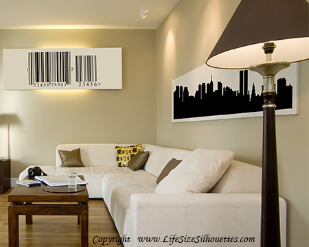 Picture of Singapore 2 City Skyline (Cityscape Decal)